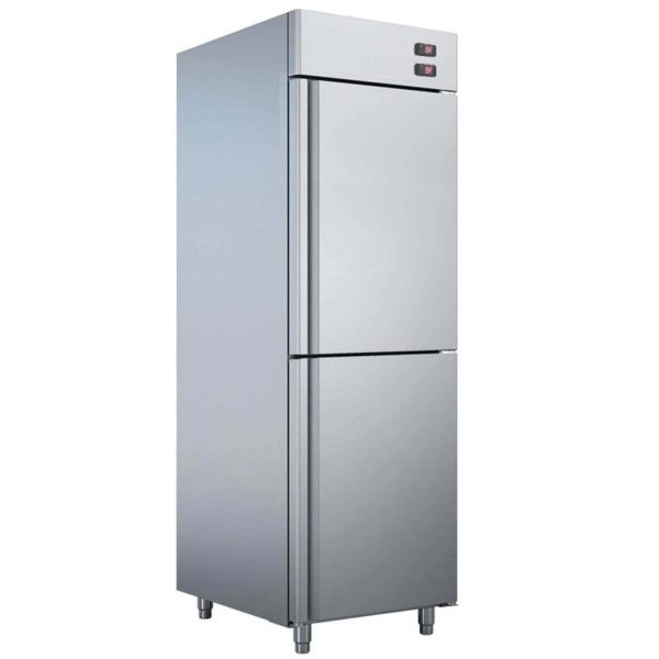Dulap vertical de refrigerare-congelare, inox
