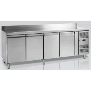 Masa de lucru cu dulap frigorific cu patru usi masa de lucru cu dulap frigorific cu patru usi - masa de lucru cu dulap frigorific cu patru usi batante profesionala din inox 300x300 - Masa de lucru cu dulap frigorific cu patru usi
