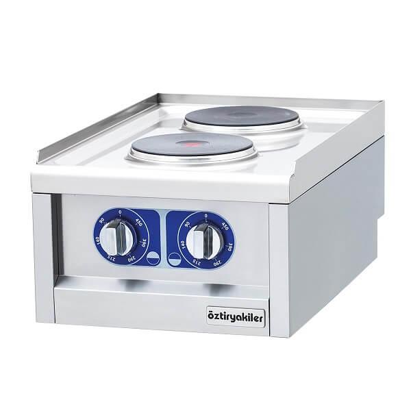 Masina de gatit electrica profesionala de banc cu 2 plite