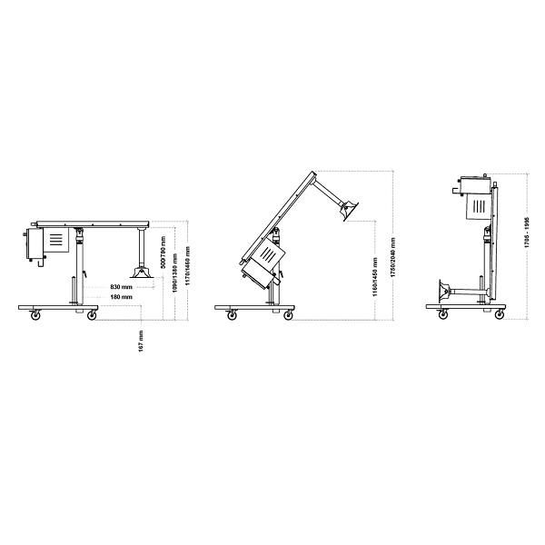 Mixer profesional-blender imersie HEAVY DUTY, GIGAMIX Standard-dimensiuni