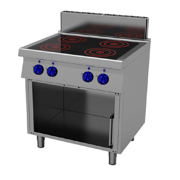 Masina de gatit cu plita vitroceramica-suport inox-80x70cm