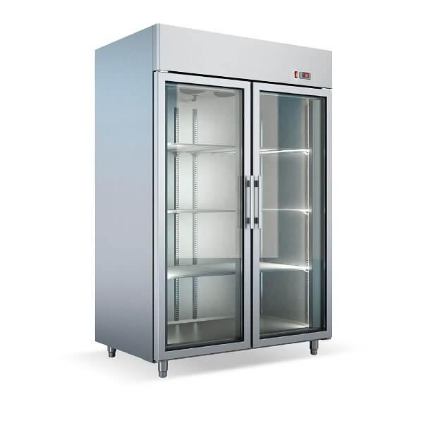 Dulap frigorific patiserie dublu cu usi de sticla